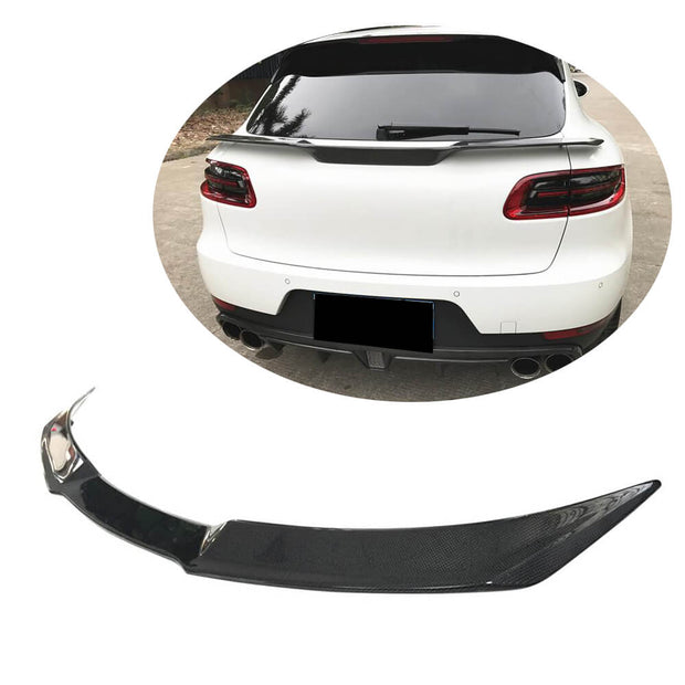 For Porsche Macan Sport Utility 14-20 Carbon Fiber Rear Middle Spoiler Window Wing Lip