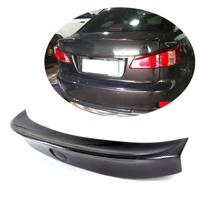 For Lexus IS250 IS300 IS350 IS F Sedan 07-13 Carbon Fiber Rear Trunk Spoiler Boot Wing Lip