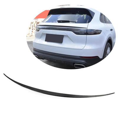 For Porsche Cayenne Sport Utility 18-21 Carbon Fiber Rear Middle Spoiler Window Wing Lip