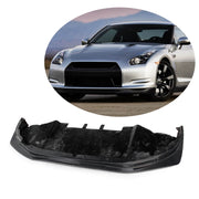 For Nissan GTR Coupe 10-13 Carbon Fiber Front Bumper Lip Chin Spoiler Body Kit