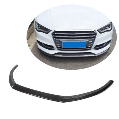 For Audi S3 A3 Sline Sedan 14-16 Carbon Fiber Front Bumper Lip Spoiler