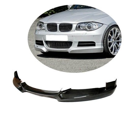 For BMW 1 Series E82 E88 M Sport 2-Door 08-13 Carbon Fiber Front Bumper Lip Chin Spoiler Body Kit