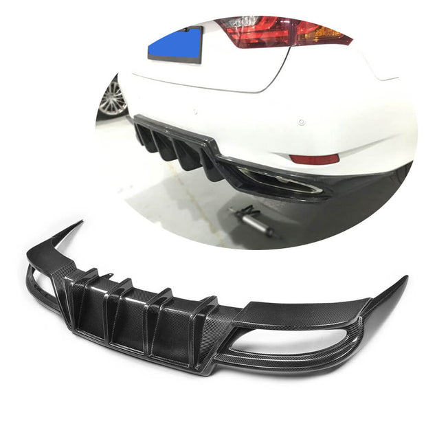 For Lexus GS350 F Sport Sedan 12-15 Carbon Fiber Rear Bumper Diffuser Body Kit