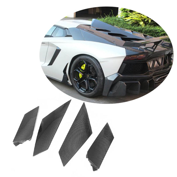 For Lamborghini Aventador LP700-4 11-16 Carbon Fiber Rear Side Air Fender Vent Body Kits