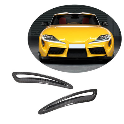 For Toyota Supra J29 Coupe 19-20 Dry Carbon Fiber Engine Hood Air Vent Grille Cover