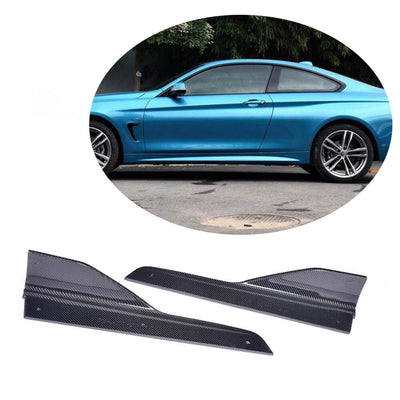 For BMW 4 Series F32 F33 F36 M Sport 2-Door 4-Door 14-19 Carbon Fiber Side Skirts Splitter Cupwing Winglets Flaps