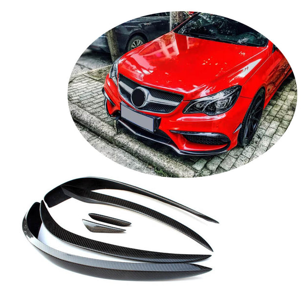 for Mercedes Benz W207 C207 A207 Sport 2-Door 14-16 Carbon Fiber Front Bumper Canards Exterior Trim