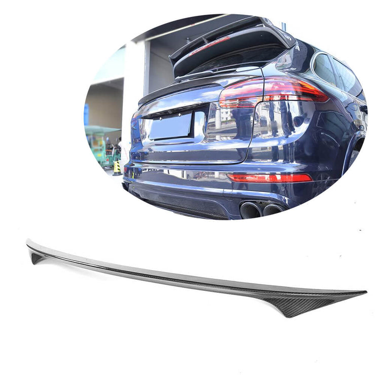 For Porsche Cayenne 958 Sport Utiltiy 15-18 Carbon Fiber Rear Middle Spoiler Window Wing Lip