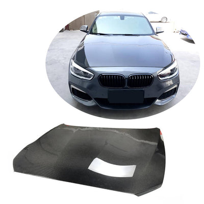 For BMW 1 Series F20 F21 Hatchback 12-19 Carbon Fiber Engine Bonnet Hood Cover
