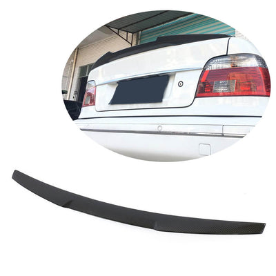 For BMW 5 Sereis E39 Sedan 96-03 Carbon Fiber Rear Trunk Spoiler Boot Wing Lip