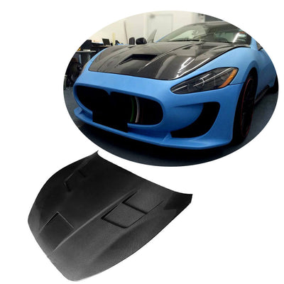 For Maserati Gran Turismo GT 2-Door 08-13 Carbon Fiber Engine Bonnet Hood Cover