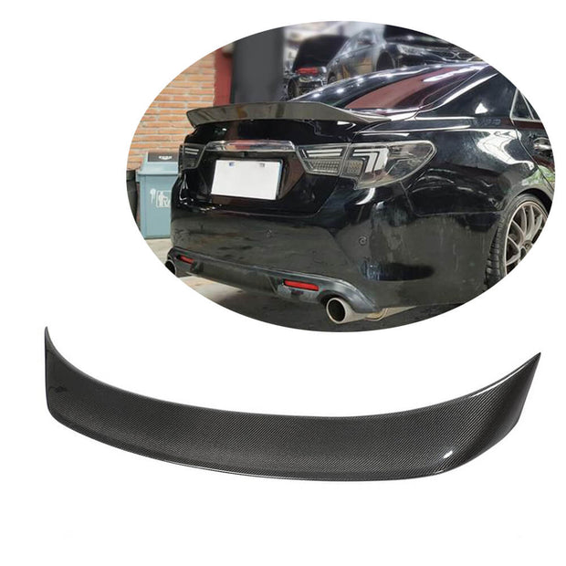 For Toyota Mark X/Reiz Sedan 11-17 Carbon Fiber Rear Trunk Spoiler Boot Wing Lip