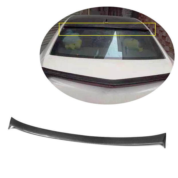 For Cadillac ATS Sedan 13-19 Carbon Fiber Rear Roof Spoiler Window Wing Lip
