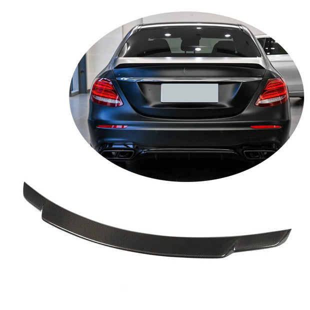 For Mercedes Benz W213 Sedan 16-19 Carbon Fiber Rear Trunk Spoiler Boot Wing Lip