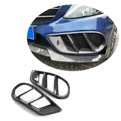 For Mercedes Benz W205 C205 A205 Sport C43 AMG 15-19 Carbon Fiber Fog Light Trim Decoration