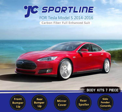 For Tesla Model S Sedan 12-15 Auto Carbon Fiber Package Wide Body Kit