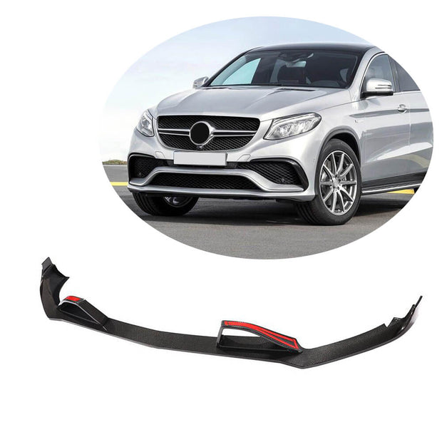 For Mercedes Benz C292 GLE63 AMG Sport Utility 15-19 Carbon Fiber Front Bumper Lip Chin Spoiler Body Kit