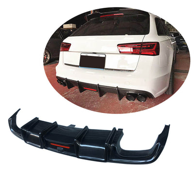 For Audi S6 A6 Sline Wagon 15-18 Carbon Fiber Rear Bumper Diffuser Body Kit