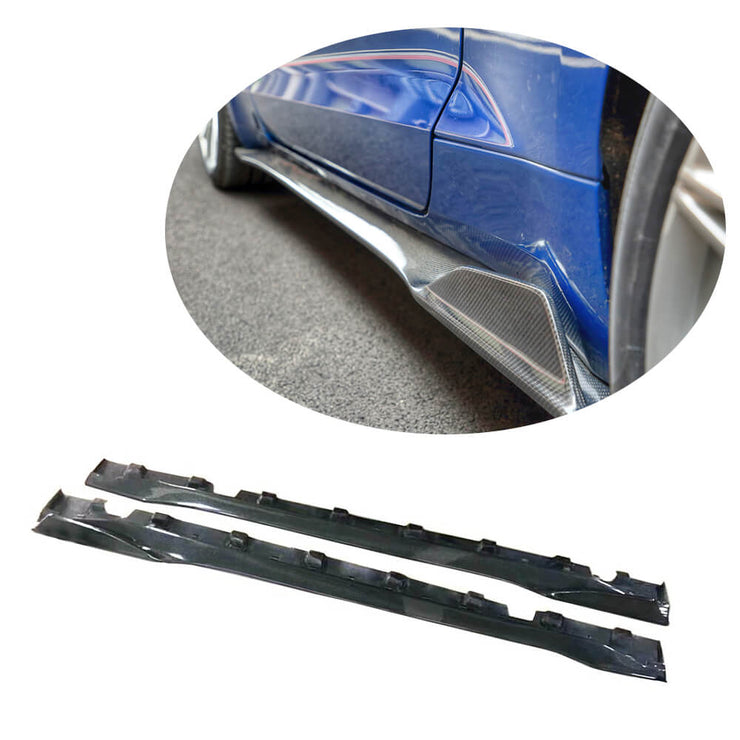For Ford Mustang V8 GT 2-Door 18-20 Carbon Fiber Side Skirts Door Rocker Panels Extension Lip