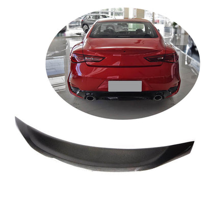 For Infiniti Q60 Q60S Coupe 17-20 Carbon Fiber Rear Trunk Spoiler Boot Wing Lip