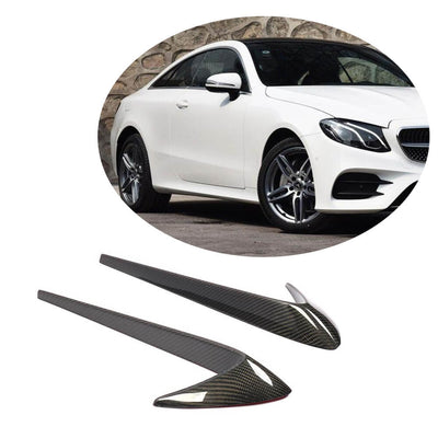 For Mercedes Benz C238 A238 Sport 2-Door 17-19 Carbon Fiber Car Side Fender Moulding Trims