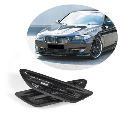 For BMW 5 Series F10 Base Sedan Pre-LCI 10-13 Carbon Fiber Side Air Fender Vent Grille