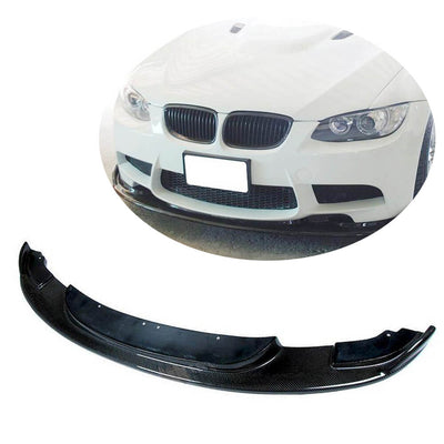 For BMW 3 Series E90 E92 E93 M3 2-Door 4-Door 08-13 Carbon Fiber Front Bumper Lip Chin Spoiler