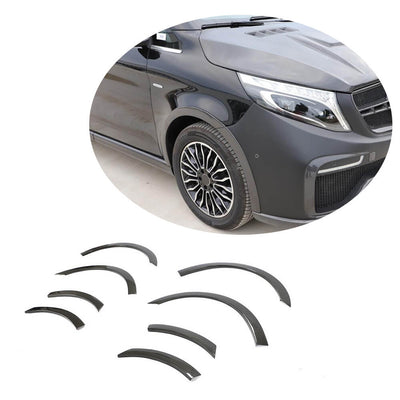 For Mercedes Benz V Class W447 Vito 15-19 Carbon Fiber Wheel Eyebrow Arch Trim Lips Fender Flares Protector