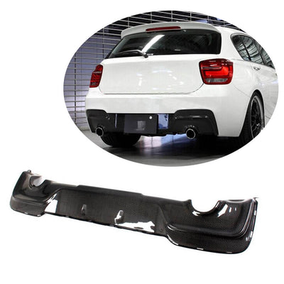 For BMW 1 Series F20 M135i Hatchback Pre-LCI 12-15 Carbon Fiber Rear Bumper Diffuser Body Kit