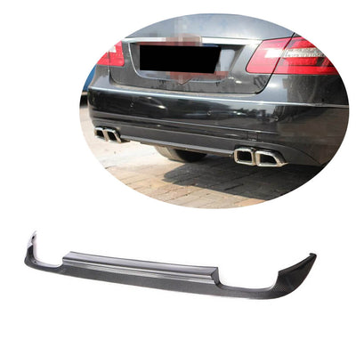 For Mercedes Benz W212 Base Sedan 10-13 Carbon Fiber Rear Bumper Diffuser Body Kit