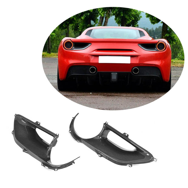 For Ferrari 488 GTB Spider 2-Door 15-17 Carbon Fiber Rear Taillight Air Vent Cover