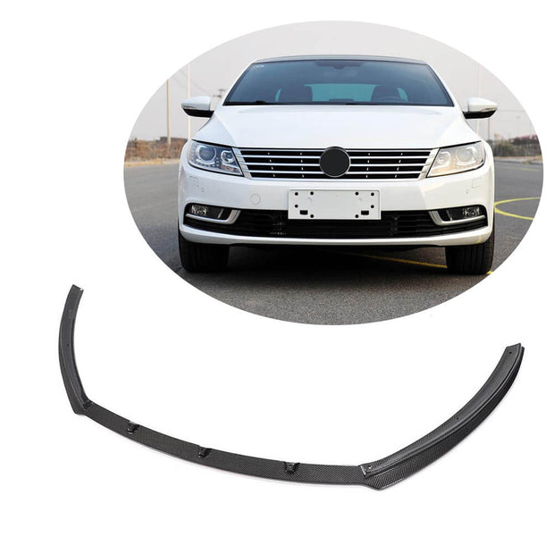 For Volkswagen VW  CC Sedan 13-18 Carbon Fiber Front Bumper Lip Chin Spoiler Body Kit