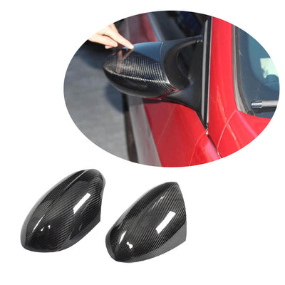 For BMW 3 Series E92 E93 M3 2-Door 08-13 Carbon Fiber Side Rearview Mirror Cover Caps Pair
