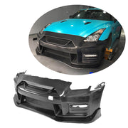 For Nissan GTR R35 Coupe 09-17 Carbon Fiber Front Bumper with Front Bumper Lip