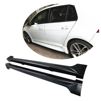 For Volkswagen VW Golf 7 MK7 Base Hatchback 14-16 Carbon Fiber Side Skirts Door Rocker Panels Extension Lip