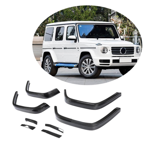 For Mercedes Benz W463 Wagon 19UP Carbon Fiber Wheel Eyebrow Arch Trim Lips Fender Flares Protector