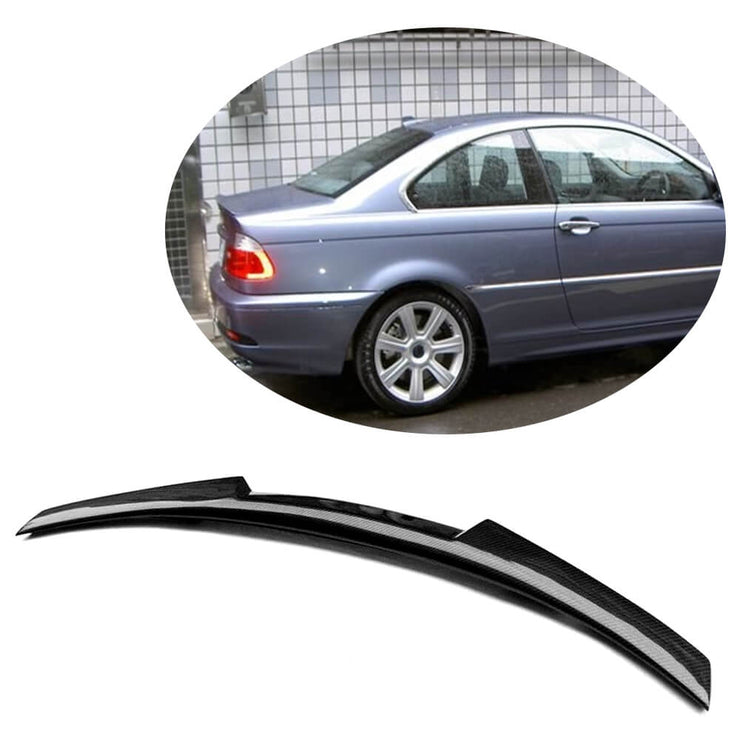 For BMW 3 Series E46 M3 Coupe 00-06 Carbon Fiber Rear Trunk Spoiler Boot Wing Lip