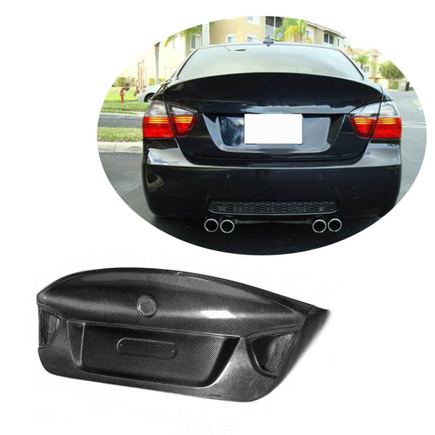 For BMW 3 Series E90 M3 Sedan Pre-LCI 05-08 Carbon Fiber Rear Trunk Tail Cover