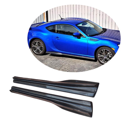 For Subaru BRZ Toyota GT86 FT86 Scion FR-S Carbon Fiber Side Skirts Door Rocker Panels Extension Lip