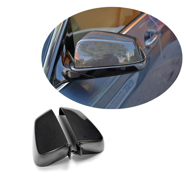 For BMW 5 Series F07 GT Pre-LCI 10-13 Carbon Fiber Side Rearview Mirror Cover Caps Pair