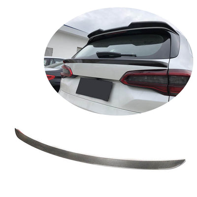 For BMW X5 G05 Sport Utility 2019UP Carbon Fiber Rear Middle Spoiler Window Wing Lip