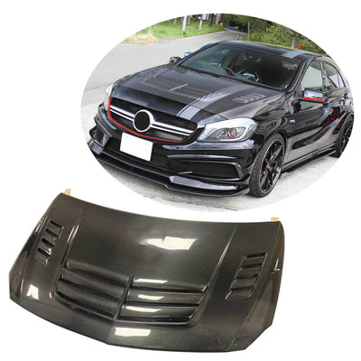 For Mercedes Benz W176 Hatchback 13-18 Carbon Fiber Engine Bonnet Hood Cover