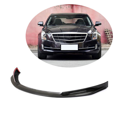 For Cadillac ATS Base Coupe Sedan 15-17 Carbon Fiber Front Bumper Lip Chin Spoiler Body Kit