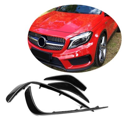 For Mercedes Benz X156 Sport Sport Utility 14-17 Carbon Fiber Front Fog Lamp Cover Air Vent Trims