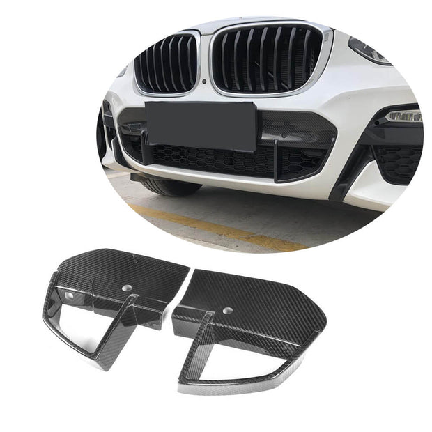 For BMW X3 G01 M40i Sport Utility 18-20 Carbon Fiber Front Bumper Air Vent