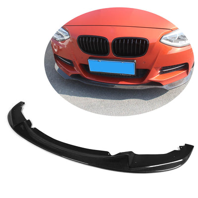For BMW 1 Series F20 F21 M Sport Hatchback Pre-LCI 12-15 Carbon Fiber Front Bumper Lip Chin Spoiler Body Kit