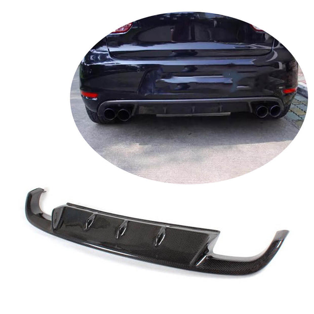For Volkswagen VW Golf 6 MK6 GTI Hatchback 10-13 Carbon Fiber Rear Bumper Diffuser Body Kit