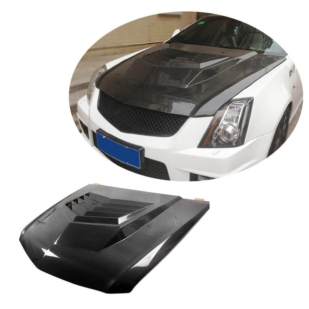 For Cadillac CTS CTS-V Coupe 11-13 Carbon Fiber Engine Bonnet Hood Cover