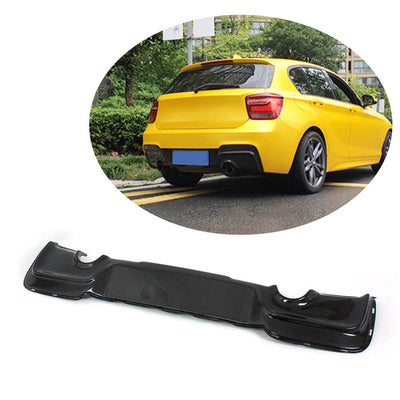 For BMW 1 Series F20 M Sport Hatchback Pre-LCI 12-15 Carbon Fiber Rear Bumper Diffuser Body Kit
