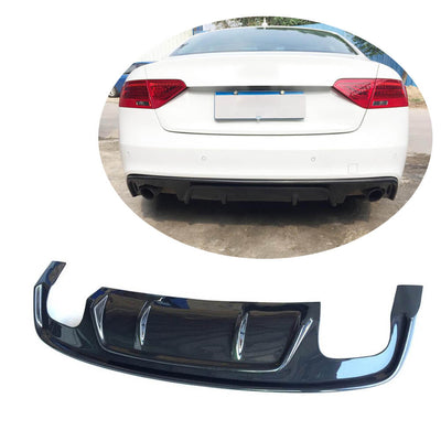 For Audi S5 A5 B8.5 Sline 2-Door 4-Door 12-16 Carbon Fiber Rear Bumper Diffuser Body Kit